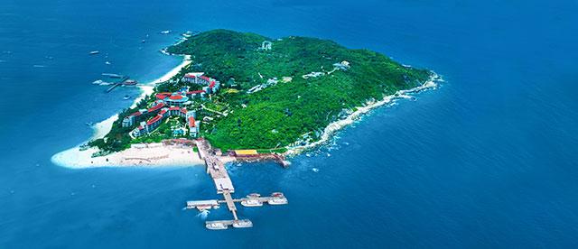 蜈支洲岛俯瞰图
